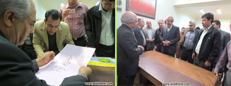 آثارهنرمندان ایران/عزیزی هنر/ گزارش مصور از نمايشگاه آثار خوشنويسي استاد محمد حيدري در سيرجان