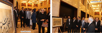 شانزدهمین نمایشگاه انفرادی آثار خوشنویسی قرآنی استاد سیدمهدی دریاباری در گالری اپراهاوس کشور عمان