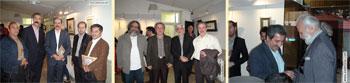 گزارش تصویری از مراسم افتتاحیه نمایشگاه آثار خوشنویسی استاد محمد علی قربانی با عنوان حیات خلوت در فرهنگسرای ابن سینا فروردین 1395