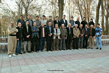 نمایشگاه خوشنویسی دوبیتی های هژار به خط اعضای انجمن خوشنویسان مهاباد