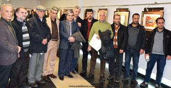 تصاویری از افتتاحیه نمایشگاه آثار خوشنویسی و نقاشیخط استاد مرتضی شعبانی با عنوان نیایش قلم در همدان