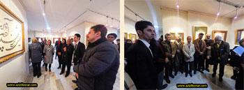 تصاویری از مراسم افتتاحیه نمایشگاه آثار خوشنویسی آقای بهادر پگاه با عنوان « غبار تا کتیبه » در گالری ایده پارسی با حضور پر شور و با شکوه اساتید هنر خوشنویسی کشور