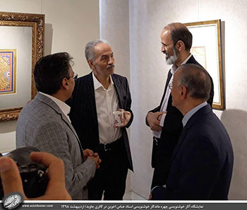 گزارش تصویری از نمایشگاه آثار خوشنویسی دیده نشده و جدید چهره ماندگار خوشنویسی استاد عباس اخوین در گالری جاوید-اردیبهشت1398