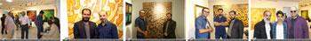 تصاویری ازگشایش نمایشگاه آثار خوشنویسی و نقاشیخط روح الله حسین زاده همزمان با افتتاح گالری کلهر در شهر رشت- مرداد 1397