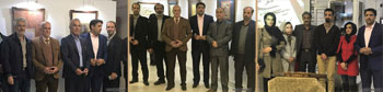گزارش تصویری از نمایشگاه آثار خوشنویسی اساتید سید محمد فاتح سیدنطنزی و علی خیری حبیب آبادی با عنوان از صفای نستعلیق تا بهار شکسته در اصفهان