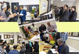 گزارش مصور از برگزاری نمایشگاه خوشنویسی قربان تا غدیر شهرستان محلات 