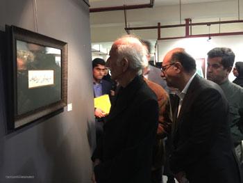 گزارش تصویری از افتتاحیه نمایشگاه خوشنویسی جمع مشتاقان به یاد علی محمد شیرازی در فرهنگستان هنر- آبان 97