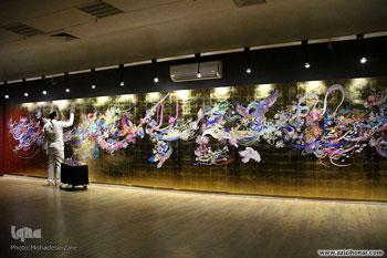 نمایشگاه و کارگاه نگارش 72 نام مبارک و القاب حضرت صاحب الزمان توسط هنرمند ارجمند علیرضا بهدانی با عنوان مشق نام او در نگارخانه رضوان مشهد