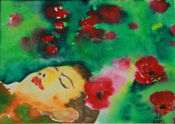 نمایشگاه آثار نقاشی با دهان سمانه احسانی نیا در فرهنگسرای ملل