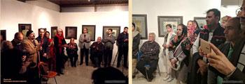 گزارش تصویری از نمایشگاه آثار خوشنویسی و نقاشیخط استاد علی قرطاسی با عنوان شمال شرقی در فرهنگسرای نیاوران