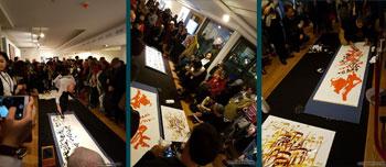 افتتاحیه نمایشگاه سه هفته ای رایزنی فرهنگی سفارت جمهوری اسلامی ایران در آلمان با آثاری از اساتید احمد محمدپور و حمید عجمی و خانم نفیسه خانه زر در محل سالن اصلی مرکز فرهنگی کره جنوبی