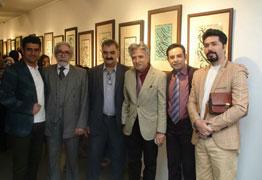تصاویری از گشایش نمایشگاه آثار خوشنویسی پوریا خاکپور در گالری گویا