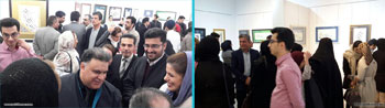 گزارش مصور از نمایشگاه آثار خوشنویسی هنرجویان استاد علیرضا کدخدایی با عنوان ششمین مهرگان در نگارخانه اشراق مشهد