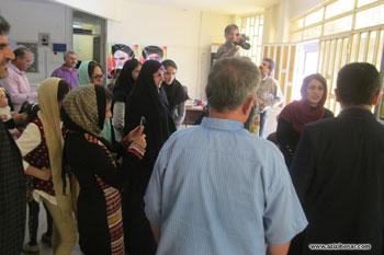 گزارش تصویری از افتتاحیه نمایشگاه انفرادی خوشنویسی هنرمند ارجمند زینب شیخی مفرد از شهرستان باغملک خوزستان