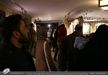 گزارش تصویری از نمایشگاه گروهی خط معلی آثار هنرجویان استاد محسن ابراهیمی با عنوان حق نبشت در نگارستان شهر- دیماه 97