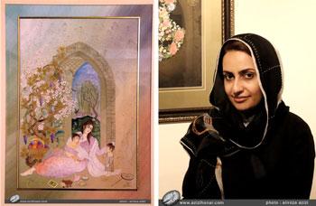 گزارش تصویری از نمایشگاه آثار نگارگری جمعی از هنرمندان کاشان در فرهنگسرای نیاوران، تیرماه1396 اثر نگارگری خانم پریسا فیروز بخش