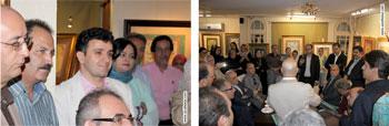 گزارش تصویری از مراسم افتتاحیه و رونمایی از کتاب پندهای شاهنامه فردوسی و نمایشگاه آثار خوشنویسی هنرمند فرهیخته آقای ابراهیم سلیمانی در نگارخانه ترانه باران ، خرداد 1395