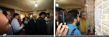 گزارش تصویری از افتتاحیه با شکوه نمایشگاه آثار خوشنویسی علی اصغر رسولی با عنوان غوغای عشقبازان با حضور اساتید صاحب نام خوشنویسی کشور در شهرستان نی ریز-مرداد1398