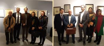 گزارش تصویری از نمایشگاه آثار خوشنویسی گرایش های نوین استاد احمد آریامنش و جمعی از هنرجویان ایشان با عنوان با من بی حضور من در گالری گویا