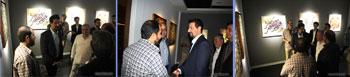 گزارش تصویری از نمایشگاه گروهی خوشنویسی و نقاشیخط با عنوان روزگار وصل در گالری مایا کاشان