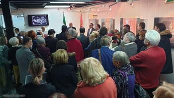 گزارش تصویری از برگزاری نمایشگاه آثار خوشنویسی خط معلی استاد محسن ابراهیمی با عنوان گوهر عشق در شهر بلگراد صربستان