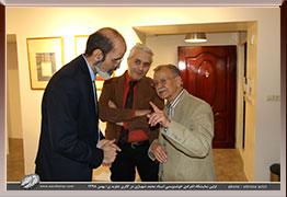 بخش اول تصاویر مراسم افتتاحیه نمایشگاه آثار خوشنویسی استاد محمد شهبازی در گالری جاوید