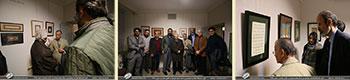 بخش اول تصاویر مراسم افتتاحیه نمایشگاه آثار خوشنویسی استاد محمد شهبازی در گالری جاوید- بهمن 98