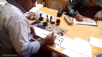 سیزدهمین همایش خوشنویسی مشق رمضان کاشان