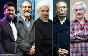 رها شدن هنر از مظلومیت نصیریان، شیرازی، علیزاده و فرامرزی از دیدار با رئیس جمهور میگویند