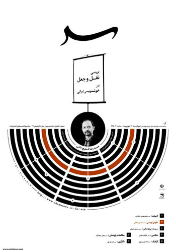 اولین نشست از سلسله نشست های آن با موضوع جعل و نقل در خوشنویسی ایرانی