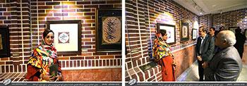 تصاویر افتتاحیه دومین نمایشگاه تخصصی شکسته نستعلیق گروه هنری فروغ رخ ساقی با نمایش آثاری از استاد محمد حیدری و هنرجویان ایشان و استاد سیده صغری حسینی در شهر ساری / آذر1397