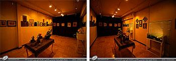 گزارش تصویری از نمایشگاه تابلوهای کوچک خوشنویسی و نگارگری در نگارخانه ساقی