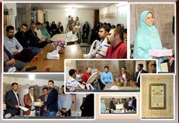 گرامیداشت مقام معلم و تجلیل از زحمات چند ساله علیرضا عزیزی در انجمن خوشنویسان شهرستان پیشوا