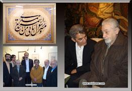 تصاویر مراسم افتتاحیه چهارمین نمایشگاه حلقه وصل در نگارخانه ترانه باران