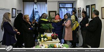 گزارش تصویری از افتتاحیه ی نمایشگاه آثار نستعلیق و شکسته نستعلیق هنرجویان آموزشگاه ساقی با راهنمایی خانم فرشته مقدسی-بهمن 1398