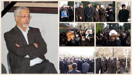 پیکر استاد اکبر صابونچی راد از مقابل تالار وحدت به سمت قطعه هنرمندان بهشت زهرای تهران تشییع گردید