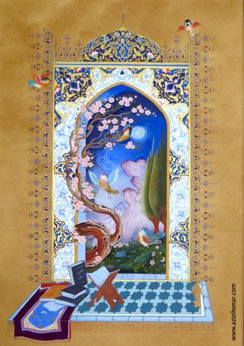 """اثر خانم ارغوان """" فاطمه """"کریمی / نگارگر /ایران/دماوند"""